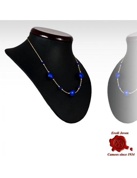 Collana Perle Veneziane Blu Regolabile