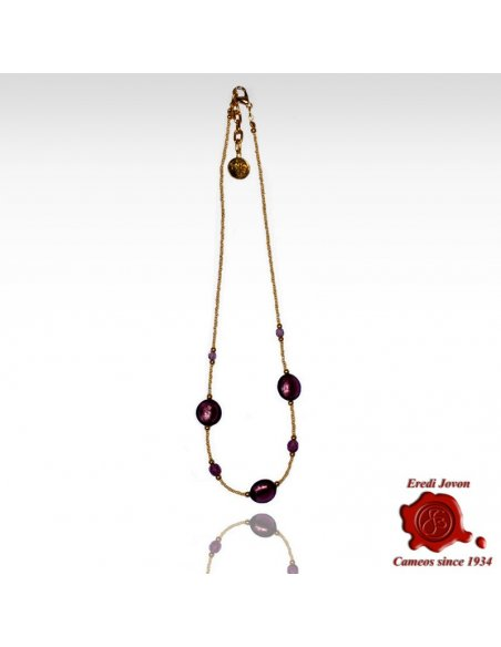 First Quality Adjustable Venetian Glass Beads Necklace