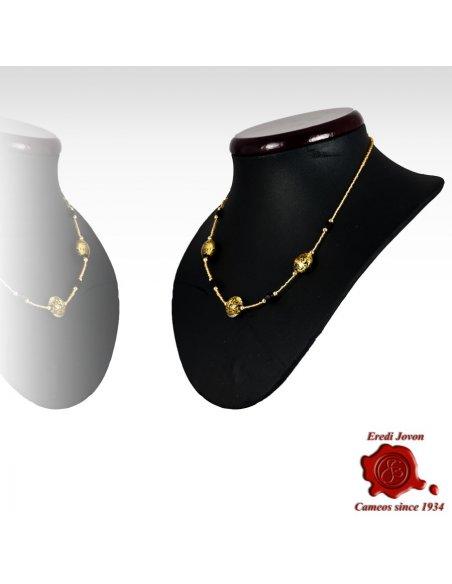 Single Line Murano Beads Necklace