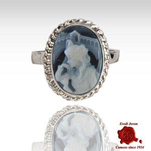 Oval Exclusive Rialto Dream Agate Cameo Ring