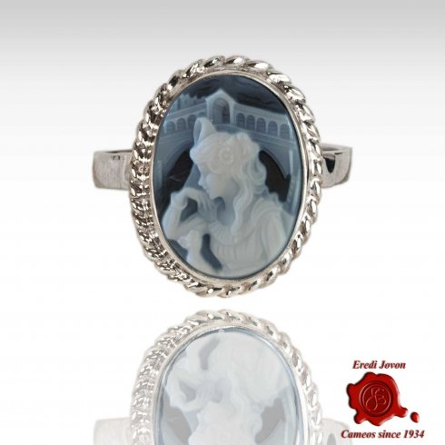 Oval Eclusive Rialto Dream Agate Cameo Ring