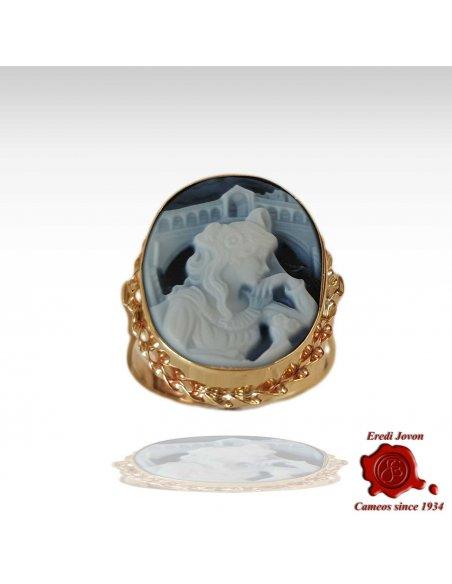 Oval Eclusive Rialto Dream Agate Cameo Ring
