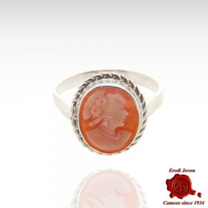 Shell Cameo Ring