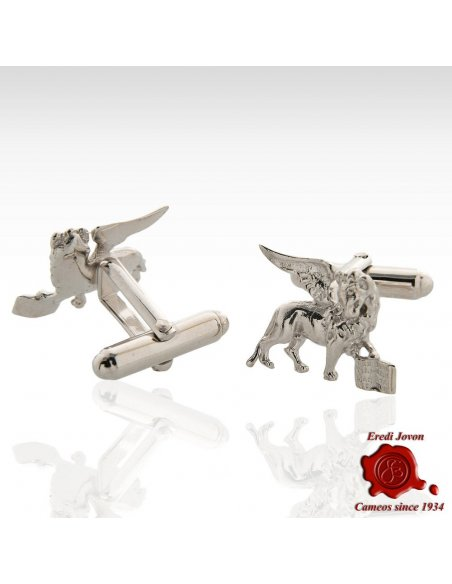 Winged Lion Silver Cufflinks