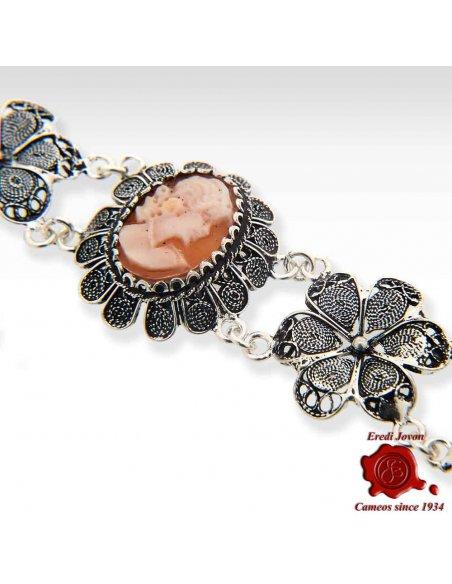 Silver Shell Cameo Bracelet