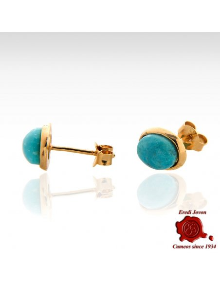 Turquoise Earrings Silver Gold Plated