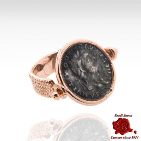 Domitian's Bronze Coin Spinner Ring