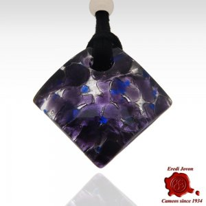 Murano Glass Necklace Purple