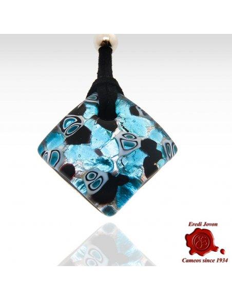 Collana Vetro di Murano Turchese