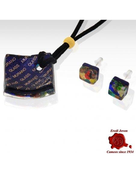 Murano Glass Necklace Millefiori