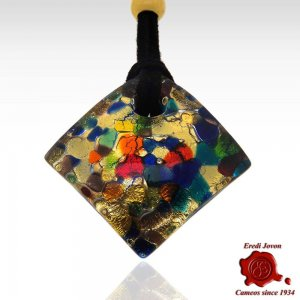 Murano Glass Necklace Millefiori