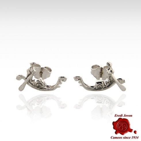 Gondola Silver Stud Earrngs