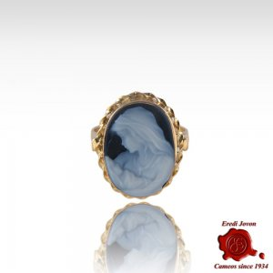 Holy Virgin Gold Cameo Ring