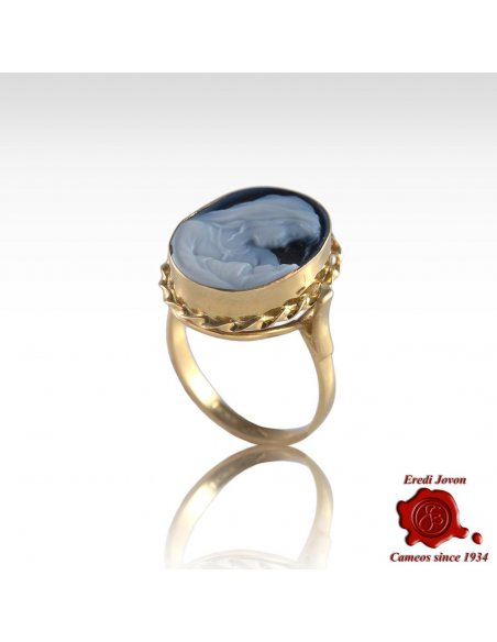 Holy Virgin Gold Cameo Ring