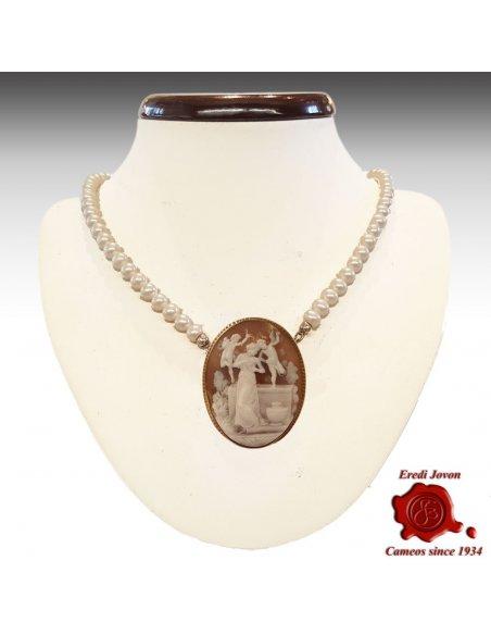 Collana Perle Naturali Chiusura Oro
