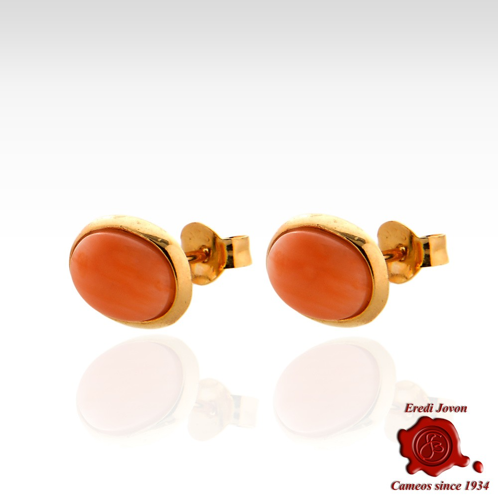 6cd2937e1 Pink Coral Earrings Silver Gold Stud | Jovon Venice
