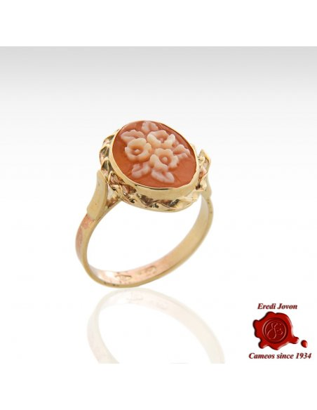 Hand Carved Italian School Cameo Ring