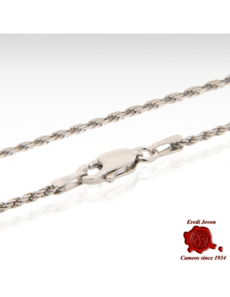 Peculiar Solid Silver Rhodium Chain Rope