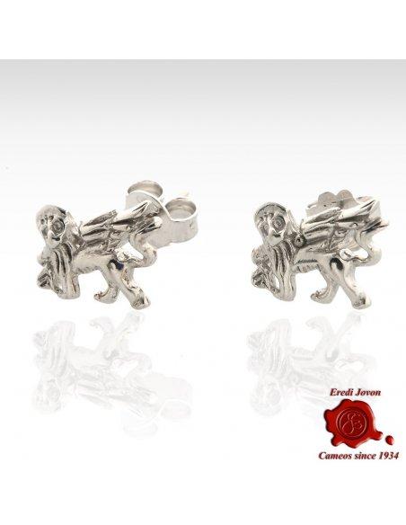 Saint Mark Winged Lion Stud Earrings