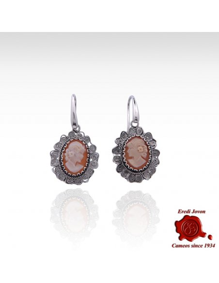 Filigree Cameo Earrings