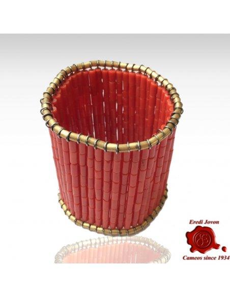 Bracciale Corallo Rosso e Oro