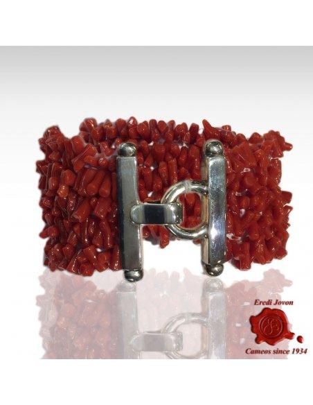 Bracciale Corallo Rosso Oro