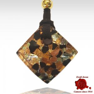 Murano Glass Pendant Gold