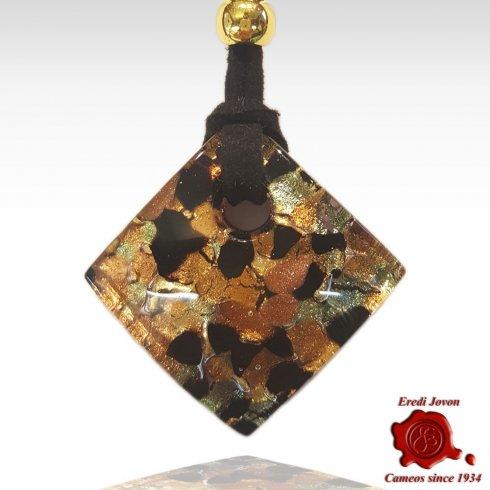 Murano Glass Pendant Gold
