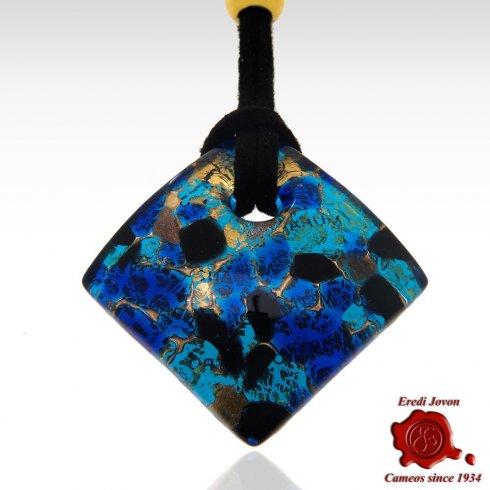 Ciondolo murrina veneziana Blu Marino