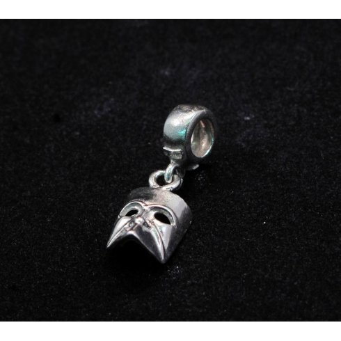 Pandora Compatible Casanova Mask Silver Charm