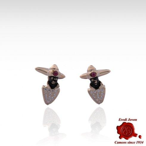 Traditional Moretto Jewelry Handcraft Cufflinks