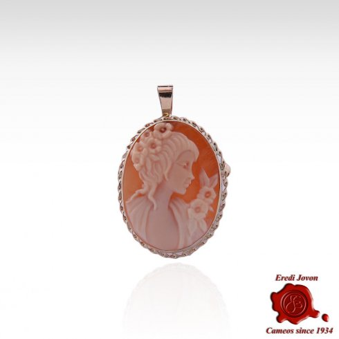 Oval Hand Carved Shell Cameo Trinket