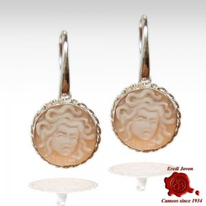 Silver Cameo Earrings...