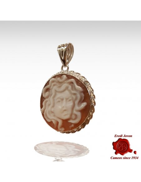 Silver Medusa Cameo Necklace from Caravaggio