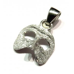 Venetian Mask Carnival Jewelry in Silver
