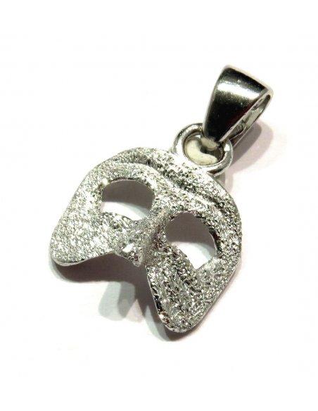 Venetian Carnival Mask Silver Pendant
