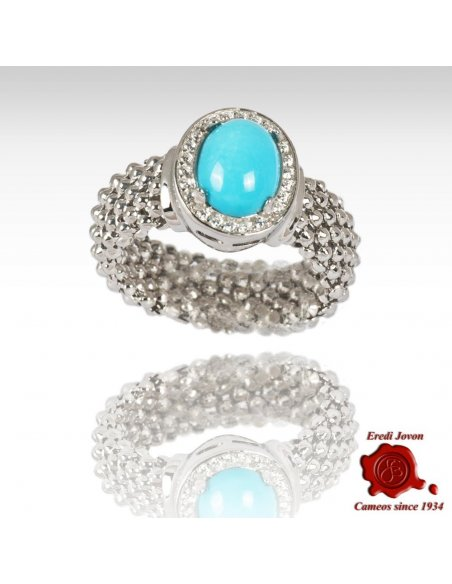 Cabochon Oval Turquoise Stone Ring