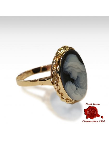 Virgin Blue Cameo Silver Ring