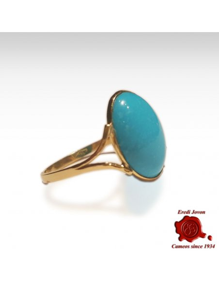 Gold Turquoise Ring for womens