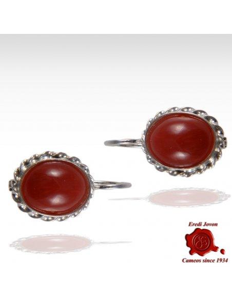 Orecchini Corallo Rosso Argento 925