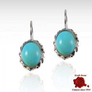 Turquoise dangle earings 925 silver set