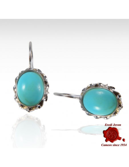 Turquoise dangle earings 925 silver set