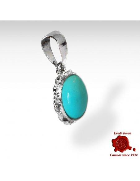 Turquoise Stone Trinket Silver Set