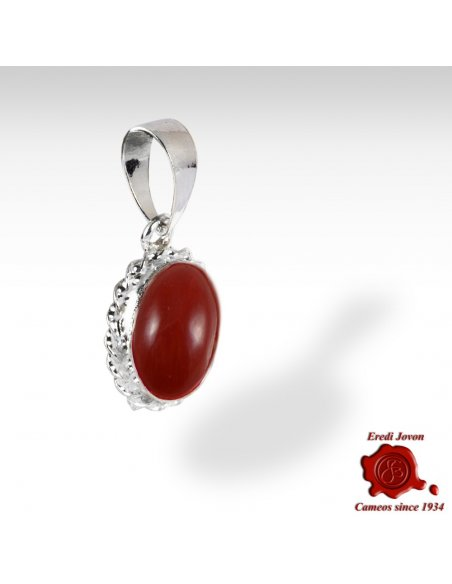 Red Coral Trinket 925 Silver set