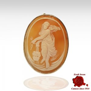 """The Hours"" Cameo Engraved by Hand"