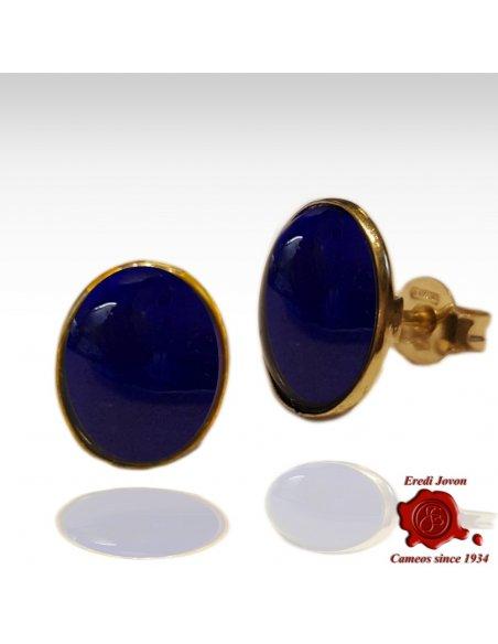 Orecchini Lapis Lazuli in Oro Giallo