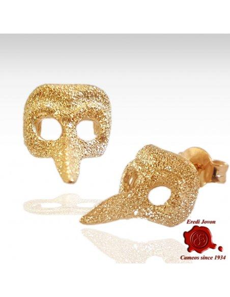 """Maschera Dottore Orecchini in Oro """"Polvere di Stelle"""""""