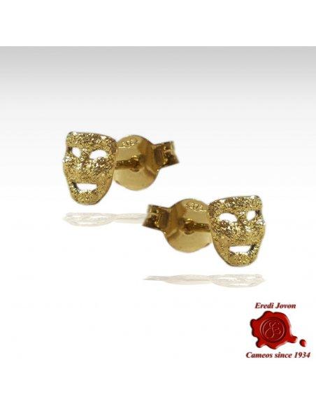 Orecchini Oro Maschera Commedia