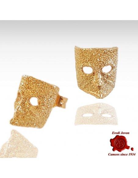Orecchini in Oro con Maschera Casanova