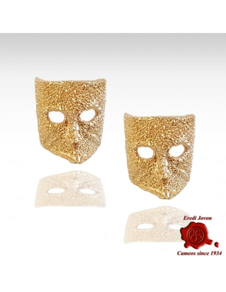 Casanova Stardust Gold Mask Earrings